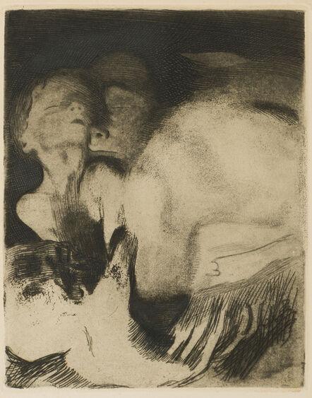 Käthe Kollwitz, 'Tod und Frau um Das Kind Ringend'