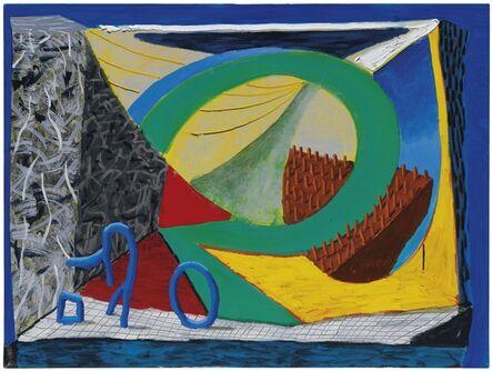 David Hockney, 'Almost Like Skiing', 1991