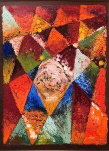 Rene Shapshak, 'Abstract Geometric Oil Monotype Painting 1966 Chelsea Hotel', 1960-1969