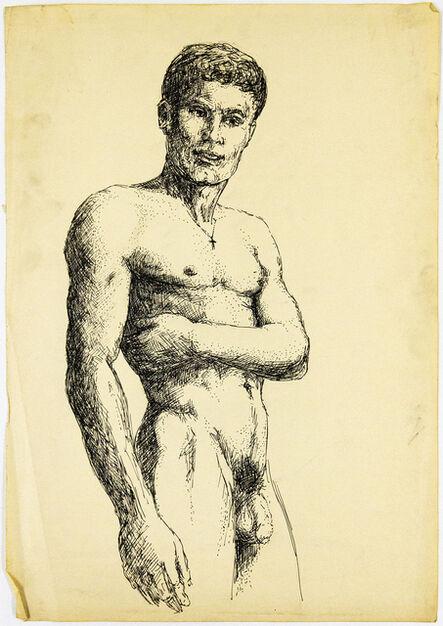 John S Barrington, 'Nude Model Wearing a Cross Necklace', 1921-1991