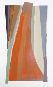 Larry Zox, 'Untitled - Painted Silkscreen', 1979