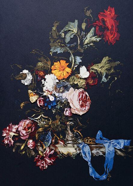 Vik Muniz, 'Pictures of Paper (Color): Vase of Flowers with Pocket Watch, after Willen Van Aelst', 2010