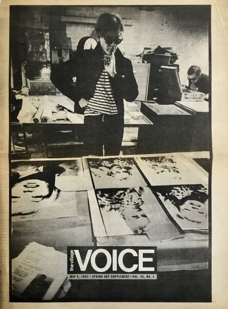 Andy Warhol, 'Andy Warhol The Village Voice 1987', 1987