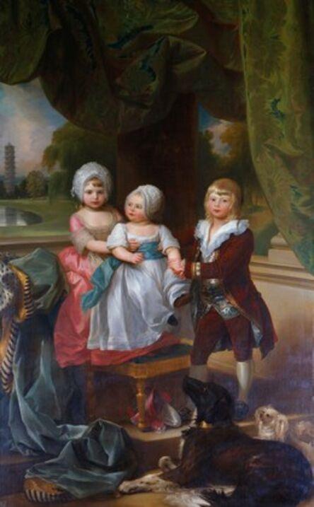 Benjamin West, 'Prince Adolphus, later Duke of Cambridge, with Princess Mary and Princess Sophia', 1778