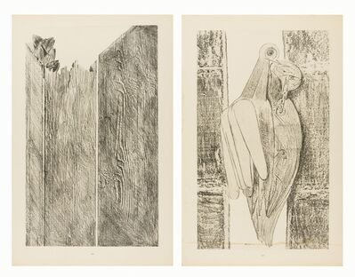 Max Ernst, 'Les Diamants conjugaux; Rasant les murs (two works)', 1926