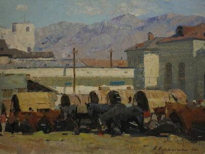 Aleksandr Timofeevich Danilichev, 'Fair in a Romanian Village', 1960