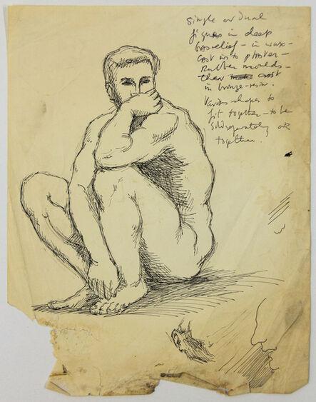 John S Barrington, 'Man Thinking (Study for a Sculpture)', 1921-1991