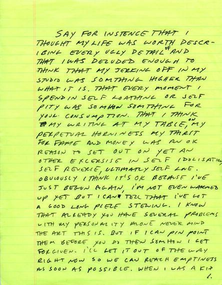 Sean Landers, 'Detail of [sic]', 1993