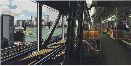 Richard Estes, 'D Train', 1988