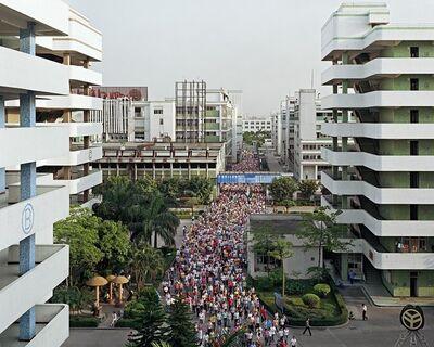 Edward Burtynsky, 'Manufacturing #2, Shift Change, Yuyuan Shoe Factory, Gaobu Town, Guangdong Province, China', 2004