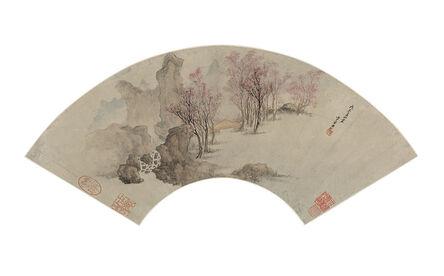 Ch'i Fan, 'Fan Format, Cherry Blossoms', Late Ming/early Qing Dynasty