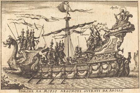 Balthasar Moncornet after Remigio Cantagallina, 'Idinone ea Mopso Argonoti guidati da Apollo'