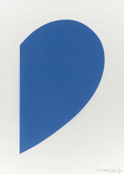 Ellsworth Kelly, 'Small Blue Curve', 2012