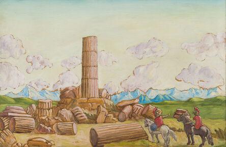 Salvo, 'Capriccio con cavalieri e rovine', 1977