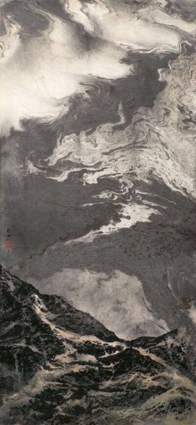 Liu Kuo-sung 刘国松, 'Flowing clouds 浮雲似流水', 1982