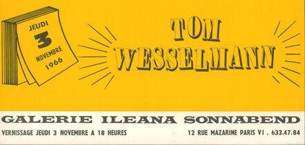 Tom Wesselmann, 'Tom Wesselmann Ileana Sonnabend, Paris 1966', 1966