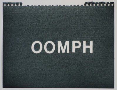 Betty Tompkins, 'Oomph (black)'