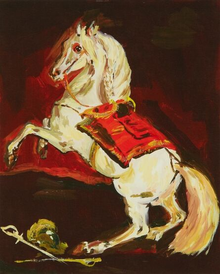 Karen Kilimnik, 'the sparkly splendid Lippazanner at the battle of austerlitz', 2008
