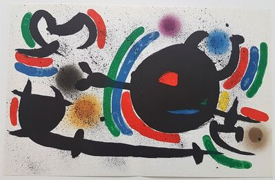 Joan Miró, 'Litografia Original X', 1975
