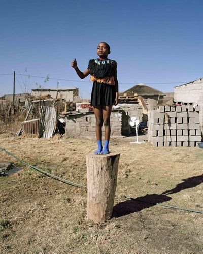 Namsa Leuba, 'Thumbs Up, from the series Zulu Kids ', 2014