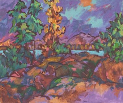 Easton Pribble, 'Mount Desert From Cranberry Island', 1971