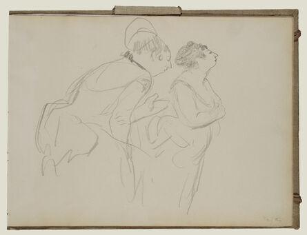 Edgar Degas, 'Sketches of Caf' Singers', 1877