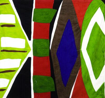 Kim MacConnel, 'Untitled #2. (lt. green, white, blue, orange, black, dk. green, yellow)', 2004