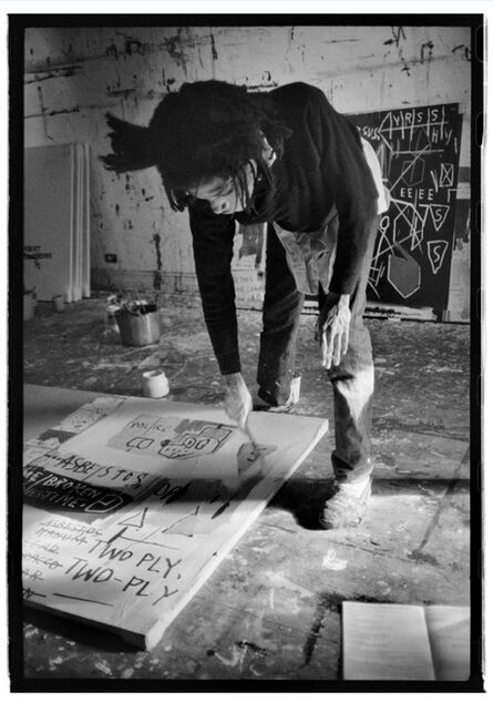 Roland Hagenberg, 'Basquiat  painting with cigarette', 1983
