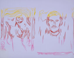 Andy Warhol, 'Madonna & Self-Portrait with Skeleton Arm (after Munch)', 1984