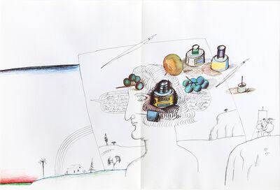 Saul Steinberg, 'Artist in Landscape from Derrière le Miroir ', 1965