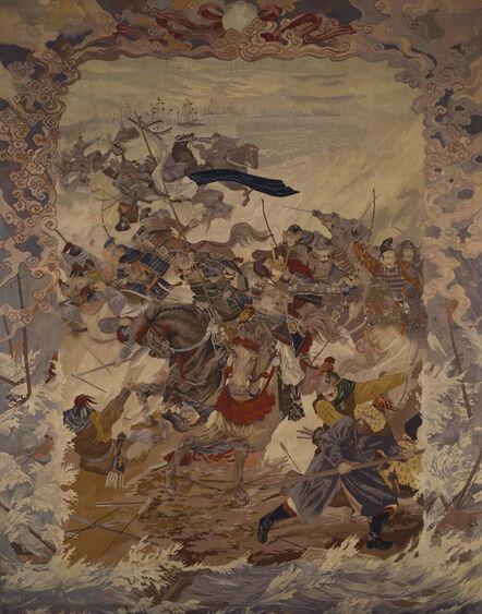 Kawashima Jimbei II, 'The Mongol Invasion', ca. 1904
