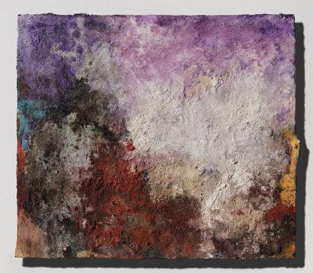 Orazio De Gennaro, 'Terra Bruciata (Scorched Earth) - Small Abstract Purple and Red Painting', 2017