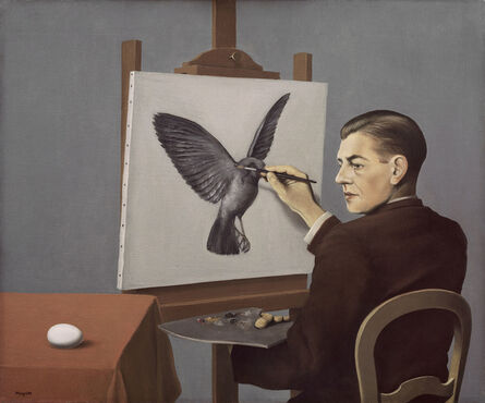 René Magritte, ' Clairvoyance (La Clairvoyance)', 1936