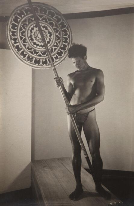 Lionel Wendt, 'Untitled (Man holding a sestha)', ca. 1935
