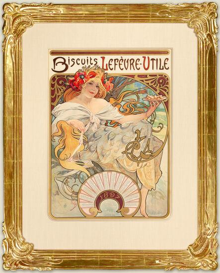 Alphonse Mucha, 'BISCUITS LEFÈVRE-UTILE/GAUFRETTE VANILLE', 1896