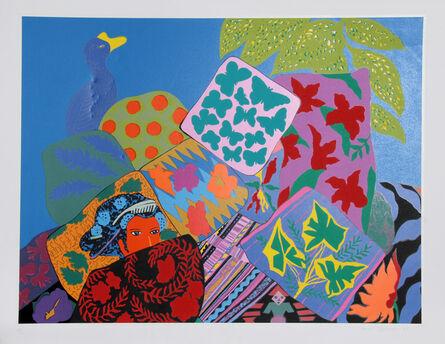 Hunt Slonem, 'Geisha and Pillows', 1981