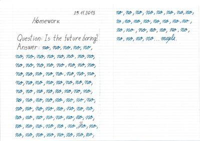 Cristina David, 'Is the Future Boring?', 2013