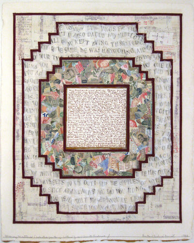 Barton Lidice Benes, 'Money Matters (Selected Part of Letters from Aunt Evelyn)', 1982