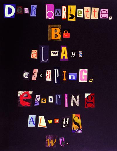 Tammy Rae Carland, 'Dear Barbette', 2003