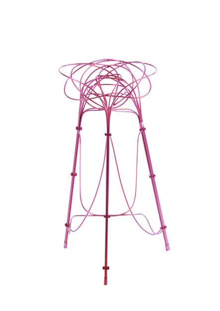 Chin-Hua Lin, 'Burr Puzzle High Stool in Pink Aluminium Finish', 2013