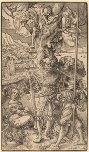 Urs Graf I, 'Two Mercenaries and a Woman', 1524