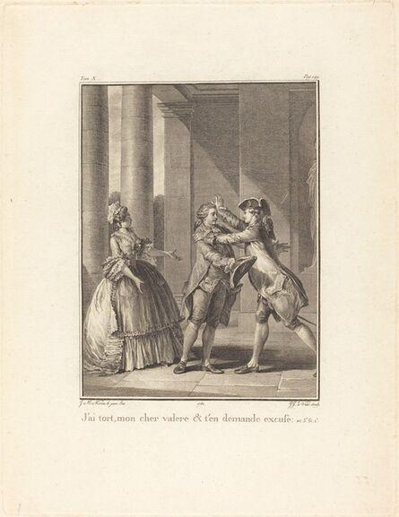 Jean Jacques Le Veau after Jean-Michel Moreau, 'J'ai tort, mon cher Valère, et t'en demande excuse', 1782