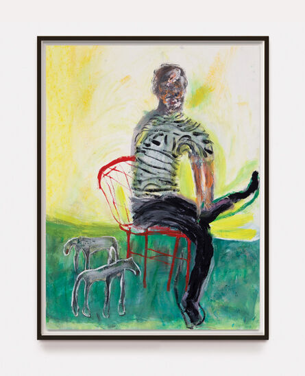 Andrew Litten, 'Seated Man with Animals Study 2', 2020