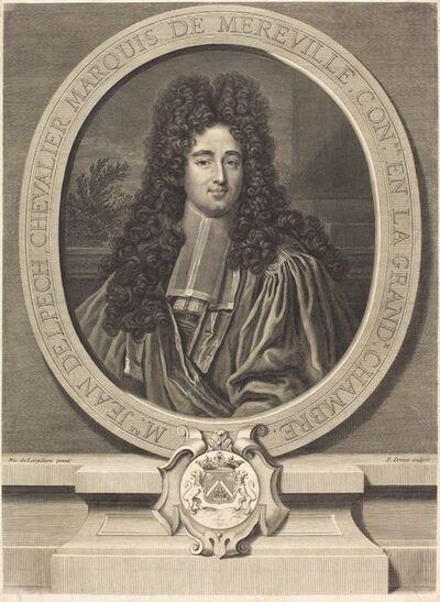 Pierre Drevet after Nicolas de Largilliérre, 'Jean Delpach, Marquis de Mereville'