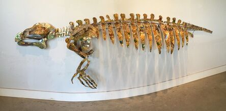 Christy Rupp, 'Manatee skeleton with gold gift cards', 2015