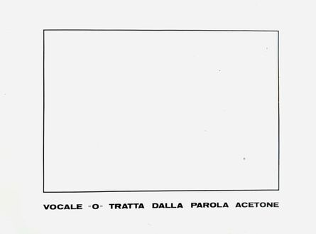 "Emilio Isgrò, 'VOCALE ""O""', 1973"