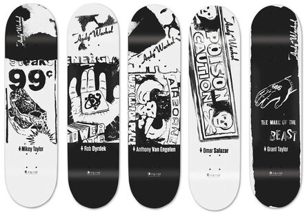 Andy Warhol, 'Ads Series skateboards set of 5', 2012