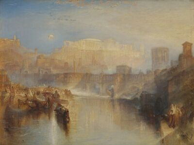 J. M. W. Turner, 'Ancient Rome: Agrippina Landing with the Ashes of Germanicus ', 1839