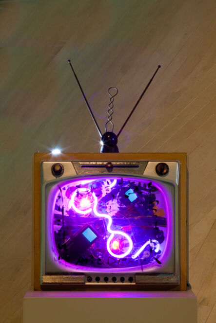 Nam June Paik, 'Neon TV- Heaven and Earth', 1990