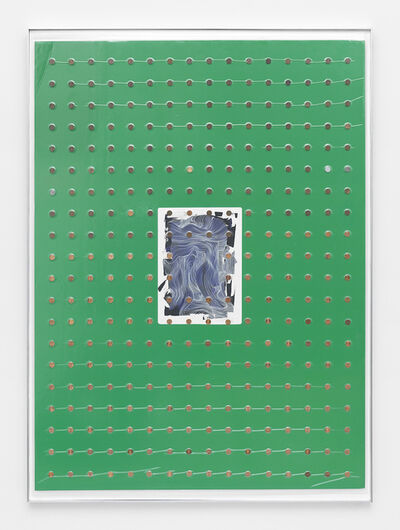 Brad Troemel, 'Brandon Boyd (Incubus) 'Maps #2'  (2014 watercolor, oil pens and ink on paper inches 16,5 inches x 11,5 unframed'') + Complete Set of Lincoln Wheat Cents 1909-2014 ( no 1922 Plain ) has VDB S 1914 D', 2015